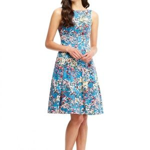 MAGGY LONDON Floral Fit & Flare Dress SZ 0